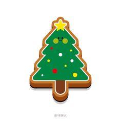 귀여운 크리스마스 쿠키 일러스트 - 그래픽 디자인 · 브랜딩/편집, 그래픽 디자인, 브랜딩/편집, 그래픽 디자인, 일러스트레이션 Punch Needle, Instagram Feed, Illustration, Christmas, Xmas, Illustrations, Weihnachten, Yule, Jul