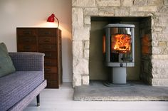 Wood burning stove or multi-fuel stove? Our expert guide looks at the different types of stoves, including log burners, multi-fuel stoves and pellet stoves, to help you choose the best stove for your home, lifestyle and budget. Fireplace Mantel Designs, Gas Stove, Contemporary Fireplace, Stoves For Sale, Fireplace Mantels, Solid Fuel Stove, Wood Burning, Fireplace, Wood Burning Stove