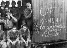 Serbian volunteers of the 'Serbischer SS-Freiwilligen Korps'.