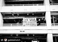 Photo by @gabbiehxtch: Seen at JFK.  #Terminal4 #Resist #NoMuslimBanJFK