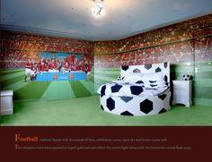 exciting football theme bedroom lfc room idea   Liverpool Room   AKCURSOS   Pinterest   Liverpool, Game ...