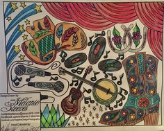Image result for country music Music Sketch, Typography Prints, Hand Coloring, Country Music, Draw, Illustration, Artist, Image, Design