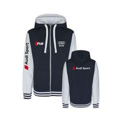 Custom Baseball Hoodie Zipper with Audi Sport Style Baseball Jackets, Sports Baseball, Audi Sport, Hoodie Jacket, Hoodies, Sweatshirts, Sport Fashion, Adidas Jacket, Sporty Fashion