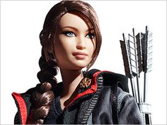 close up of the katniss doll!