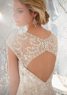 Obsessed about this back! ~ Mori Lee By Madeline Gardner Fall 2013Bridal Collection