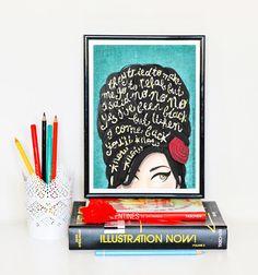 Pop-Art, Rehab Amy Winehouse Musik Poster, Musik-Illustration, Typografie Songtext, Amy Winehouse Portrait Wand Kunst, kreatives Geschenk, Kunstdruck