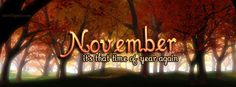 November Its That Time Of Year Again Facebook Cover CoverLayout.com
