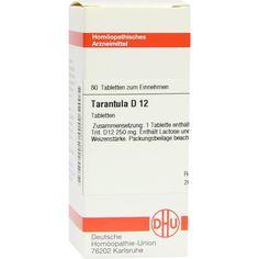 TARANTULA D 12 Tabletten:   Packungsinhalt: 80 St Tabletten PZN: 02636676 Hersteller: DHU-Arzneimittel GmbH & Co. KG Preis: 5,95 EUR…