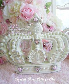 Shabby Chic Crown Wall Decor Fleur de Lis by sweetlilboutique