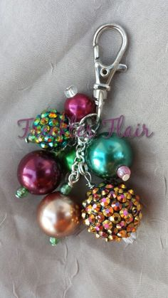 burgundy and Green sparkle by FrecklesFlair on Etsy, $8.50