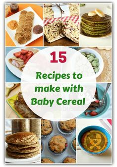 Got leftover baby cereal or want to make your kids' food healthier? Then you… Got leftover baby cereal or want to make your kids' food healthier? Then you have to try these healthy recipes to make with baby cereal – rice, oats and more! Baby Oatmeal Cereal, Baby Cereal Pancakes, Baby Muffins, Rice Cereal Baby, Cereal Recipes, Baby Food Recipes, Gourmet Recipes, Healthy Recipes, Toddler Recipes