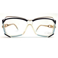 e1300eac76a8 Cazal Vintage Blue Angular Glasses ( 205) ❤ liked on Polyvore featuring  accessories