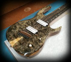 Kiesel Guitars Carvin Guitars KM8 (K Series) Buckeye burl top on black limba body with Royal ebony fretboard