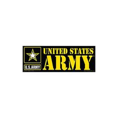 United States Army Logo Bumper Sticker: Show your support for our military by displaying this bumper sticker on your car or even home or business window. These products are prized not only by military