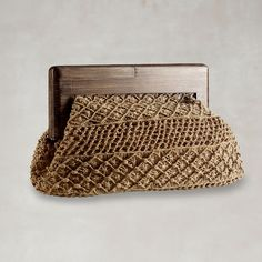 Macrame clutch from Ralph Lauren.