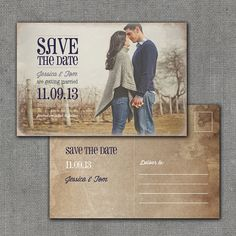Rustic Save the Date Postcard 4x6 Printable by mmalerdesigns, $20.00