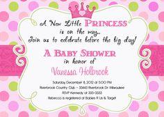 invitaciones baby shower de princesa - Buscar con Google