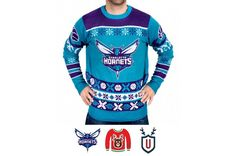 Klew Teal Thematic Pullover Ugly Sweater