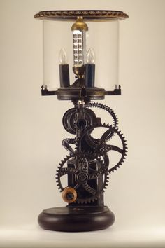 One of a kind industrial dual powered lamp by BorkaNYC on Etsy