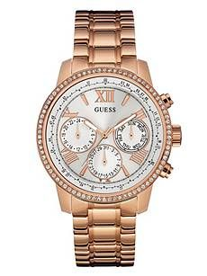 9b59f00a49e3 Rose Gold-Tone Classic Multifunction Watch at Guess