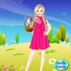 http://www.topbarbiegames.com/Barbie's-Easter-Day.html
