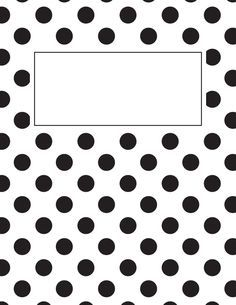 Free Printable Black And White Polka Dot And Stripe Binder Cover