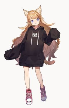 For all kinds of moe art. Especially cute anime girls and boys being cute. Content from anime, manga,. Anime Neko, Kawaii Anime Girl, Anime Girls, Anime Art, Cartoon As Anime, Anime Wolf Girl, Hot Anime, Manga Girl, Dessin Old School