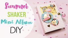 DIY Summer shaker mini Album - Mini Album Shaker Estivo