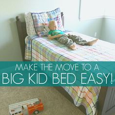 Help your toddler transition to a big kid bed smoothly!