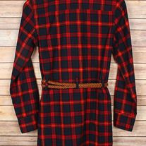 PRE-ORDER- Fall here I come! This dark red plaid dress/shirt with belt! Perfect with leggings, jeans or by itself. $37.98 Music City Pretty Boutique #musiccityprettyboutique #fallstyle #plaid #plaiddress #southerngirl