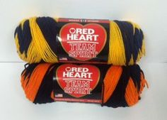 Red Heart Team Spirit Yarn -  Win two Skeins of yarn! Enter by April 10th!