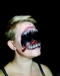 Scary cool Halloween make-up idea …