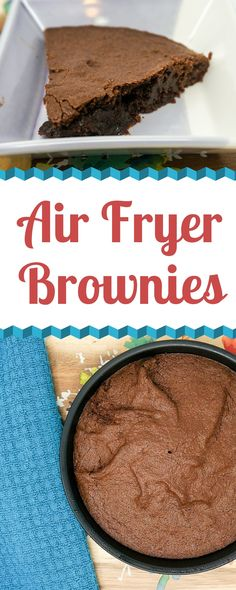 air fryer recipes Air Fryer Brownies are totally fudgy and indulgent. They are a great small-batch treat that bakes up in only a few minutes in the Air Fryer. Air Fryer Recipes Dessert, Air Fryer Oven Recipes, Air Frier Recipes, Air Fryer Review, Air Fryer Pork Chops, Homemade Brownies, Homemade Desserts, Air Fryer Healthy, Brownie Recipes