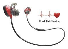 Bose SoundSport Pulse | Sport Heart Rate Bluetooth Wireless In-Ear Earphones with Mic - Red