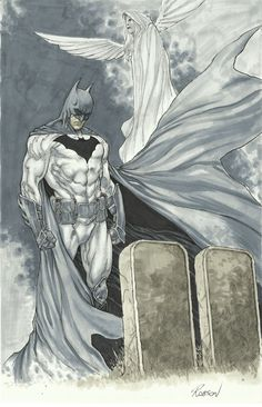 Batman at Wayne's Tomb