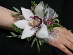 Order White Cymbidium Orchid Corsage Online: Baltimore Maryland, MD