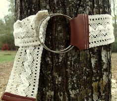 lace and leather belt tutorial