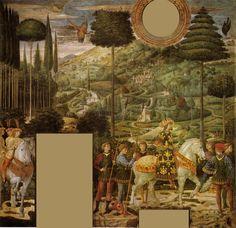 Дворец Медичи-Риккарди (Флоренция) - Часовня волхвов. Беноццо Гоццоли. (1420-1497). Шествие короля. Процессия с Иоанном VIII Палеологом.