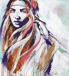 hannah adamaszek wolf drawn painting