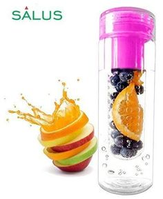 f43f075ad8 SALUS Infusion Water Bottle Tritan Fruit Infuser for Naturally Flavored  Fresh Drinking Water Multi-Purpose with Lid BPA-FREE 25 Oz Pink