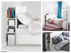 IKEA BRIMNES Headboard with Storage 180CM White | Trade Me