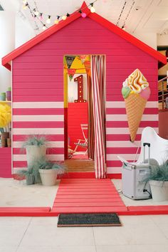 colorful shed