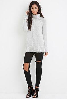 Turtleneck Raglan Sweater | Forever 21 - 2000174803