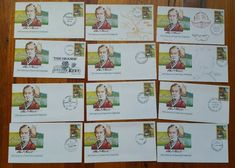 Charles Sturt FDC Envelopes x 12 Australia Set? Different cancellations @ art