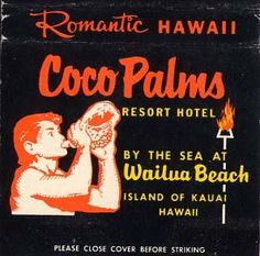 Married in the chapel in the palms& Honeymooned here at the Coco Palms Kauai Hawaii. Where they filmed blue Hawaii.