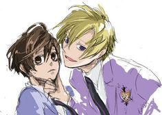 Tamaki and Haruhi - ouran-high-school-host-club Fan Art