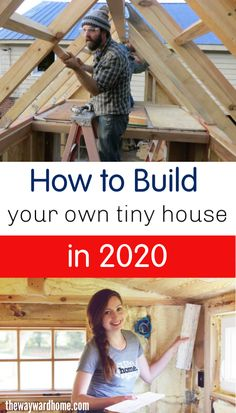 How much does it cost to build a tiny house? What supplies do I need? Where do I get tiny house plans? Check out this post and find the answers to all of your questions about how to build your own tiny home in Small House Diy, Tiny House Kits, Building A Small House, Build Your Own House, Tiny House Living, Tiny House Design, Tiny House On Wheels, Simple House, Building Your Own Home