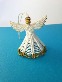 Christmas Decoration Christmas Angel Macrame Angel by MACRANI