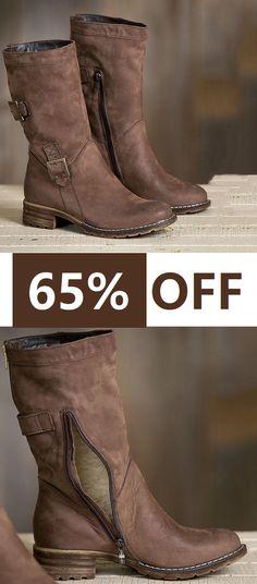 dfd676807d Shop Now    Women Vintage Warm Brown Snow Boots Winter Shoes