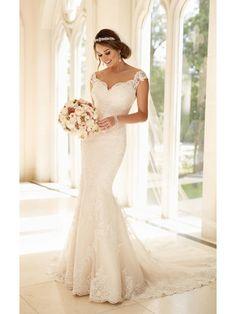 Modest Pop Sale Trumpet/Mermaid Off-the-Shoulder Lace Wedding Dresses Bridal Gowns 3301177